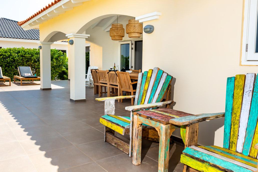 Vila Para Blou - Bonaire - Buitenterras