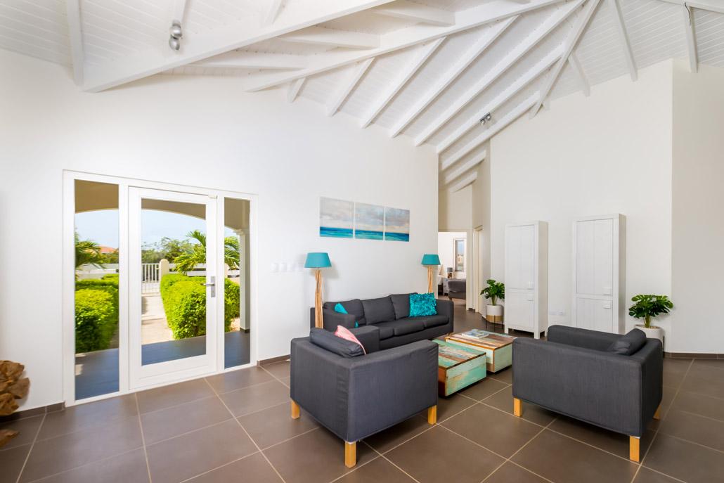 Vila Para Blou - Bonaire - Woonkamer