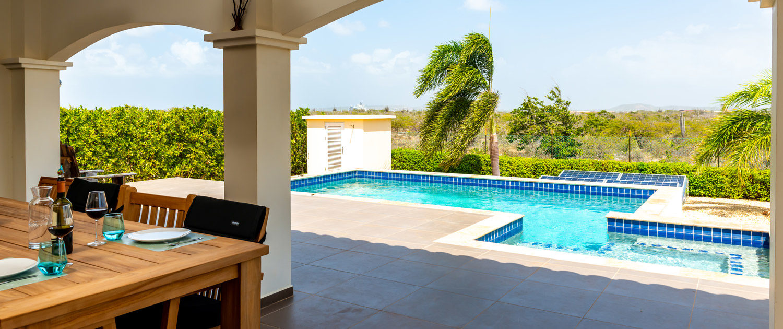 Para Blou Bonaire - Uitzicht vanuit kamer